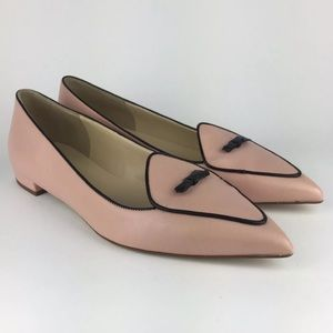 JCREW LEATHER 2 Toned Pointed Toe Loafer Flats 8.5